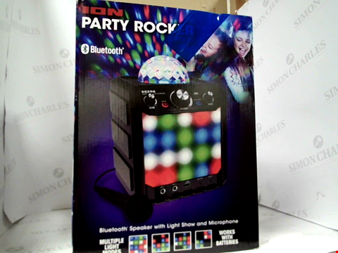 Lot 15015 ION AUDIO PARTY ROCKER EXPRESS - 40 W PORTABLE WIRELESS BLUETOOTH SPEAKER SYSTEM & KARAOKE CENTRE WITH PARTY LIGHT DISPLAY AND MICROPHONE