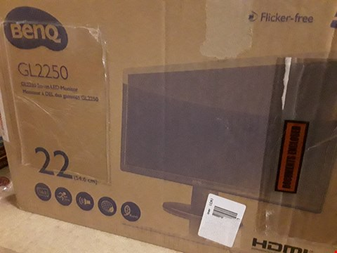 Lot 742 BOXED BENQ GL2250HM 21.5IN BLACK MONITOR