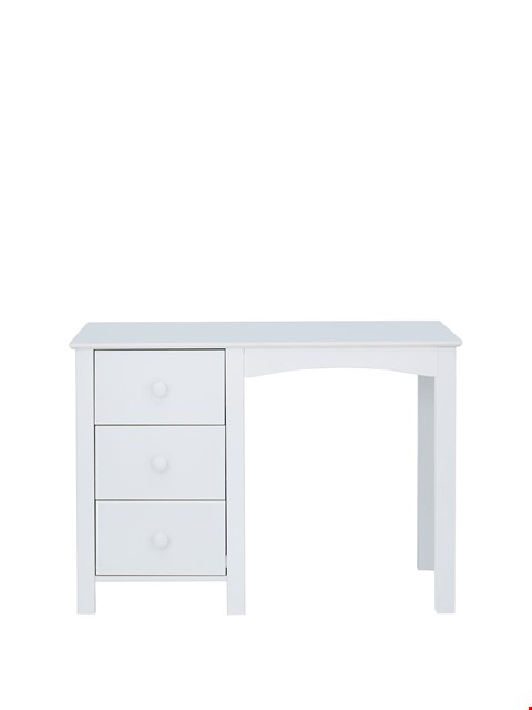 Lot 1083 BRAND NEW BOXED NOVARA WHITE 3-DRAWER DESK (1 BOX) RRP £169