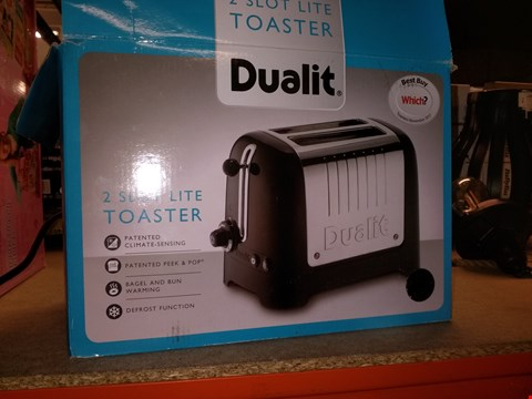 Lot 5486 DUALIT 2 SLOT LITE TOASTER RRP £58.00