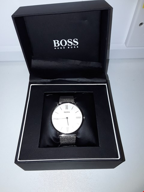 Lot 2142 HUGO BOSS JACKSON SILVER DIAL STAINLESS STEEL WRIST WATCH RRP £179.99