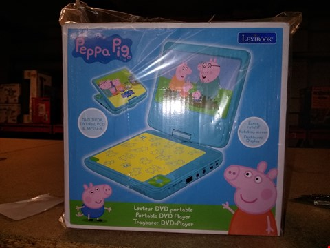 Lot 5268 PEPPA PIG PORTABLE DVD PLAYER GRADE 1 RRP £99.99