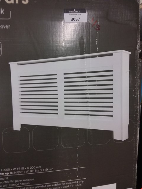 Lot 3057 LOT OF 3 ASSORTED LARGE RADIATOR COVERS - WHITE