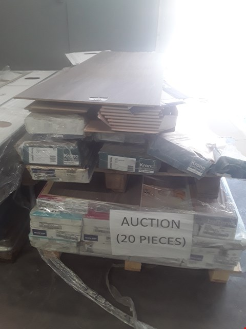 Lot 107 PALLET OF APPROXIMATELY 25 PACKS OF LAMINATE FLOORING