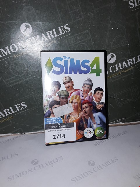 Lot 2714 THE SIMS 4 PC  RRP £29.99