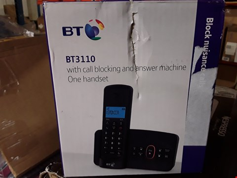 Lot 173 2 GRADE 1 ITEMS TO INCLUDE ELLIE TABLE LAMP AND BT 3110 CORDLESS DIGITAL TELEPHONE  RRP £90
