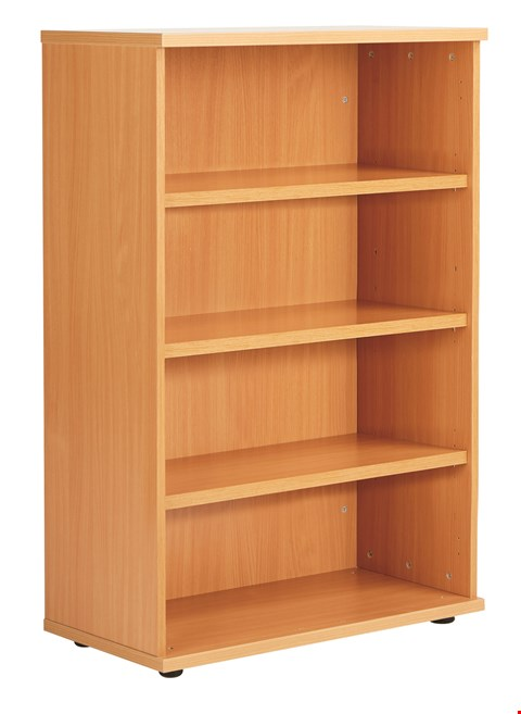 Lot 12035 BRAND NEW BOXED FRACTION PLUS 120 BOOKCASE INC. 3 SHELVES - BEECH
