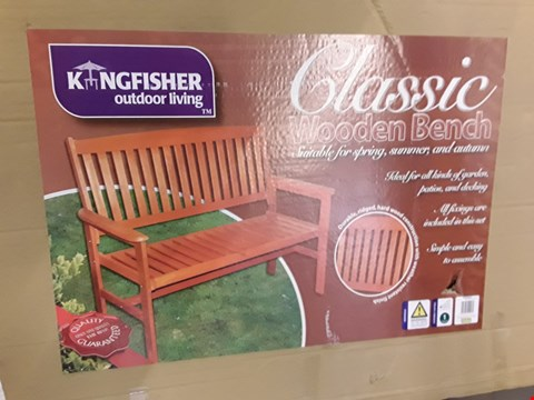 Lot 5294 BOXED KINGFISHER CLASSIC WOODEN BENCH