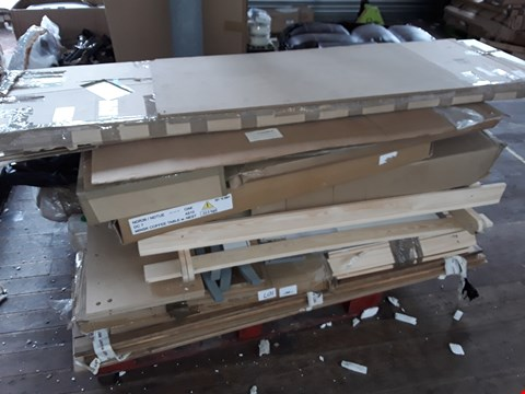 Lot 89 PALLET OF ASSORTED FLAT PACK FURNITURE PARTS