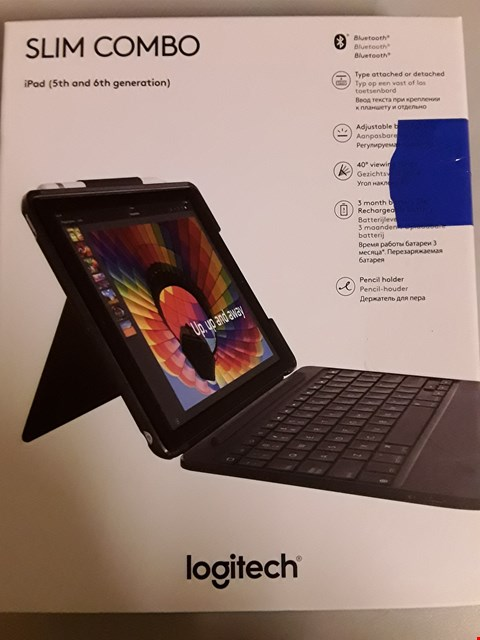 Lot 803 LOGITECH 920-009047 SLIM COMBO 5TH AND 6TH GENERATION IPAD KEYBOARD - BLACK
