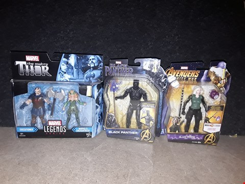 Lot 3070 MARVEL ACTION FIGURES TO INCLUDE BLACK WIDOW, BLACK PANTHER, ENCHANTRESS AND EXECUTIONER