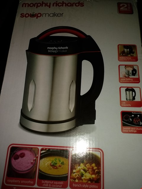 Lot 2216 MORPHY RICHARDS 1.6L SOUP MAKER (CONDITION OF BOXES MAY VARY FROM PICTURED)