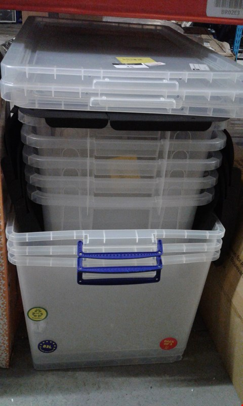 Lot 45 LOT OF APPROXIMATELY 8 CLEAR STORAGE CONTAINERS
