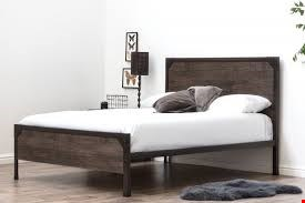 Lot 1091 BOXED MARLOW DOUBLE BED - ANTIQUE RUSTIC - ( 3 BOXES )