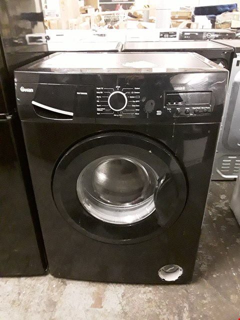 Lot 23 SWAN SW15820B 7KG 1200 SPIN WASHING MACHINE IN BLACK