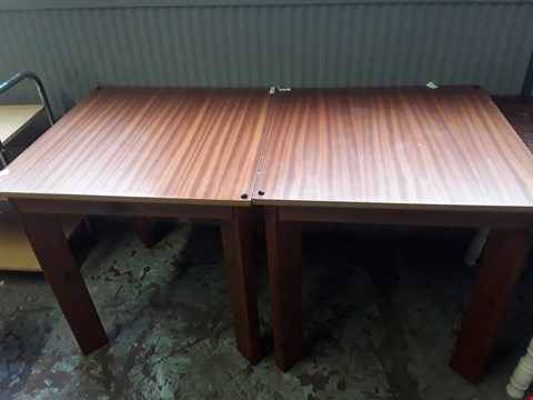 Lot 9018 2 X WOODEN SQUARE BAR TABLES
