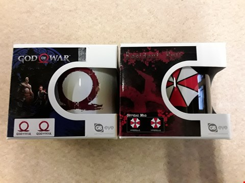 Lot 67 LOT OF 2 BRAND NEW ITEMS TO INCLUDE GOD OF WAR x1 AND RESIDENT EVIL OFFICIAL x1 MUGS