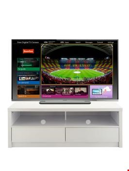Lot 329 BOXED WHITE ECHO TV UNIT 35MM THICK (1 BOX) RRP £259