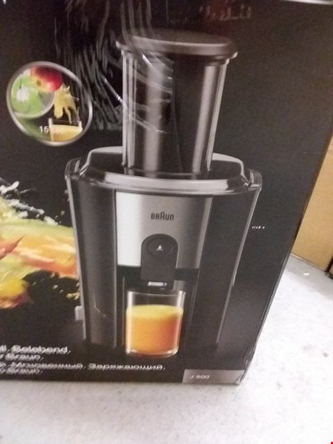 Lot 9564 BRAUN J500 SPIN JUICER 1.25L 900W