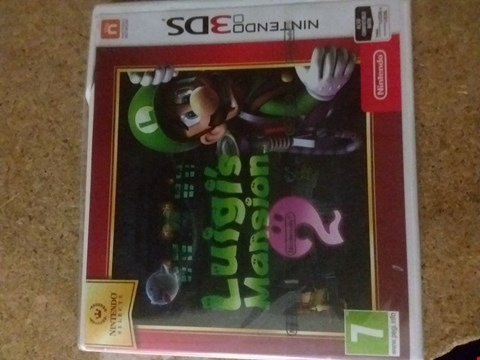 Lot 2398 LUIGI'S MANSION 2 FOR NINTENDO 3DS