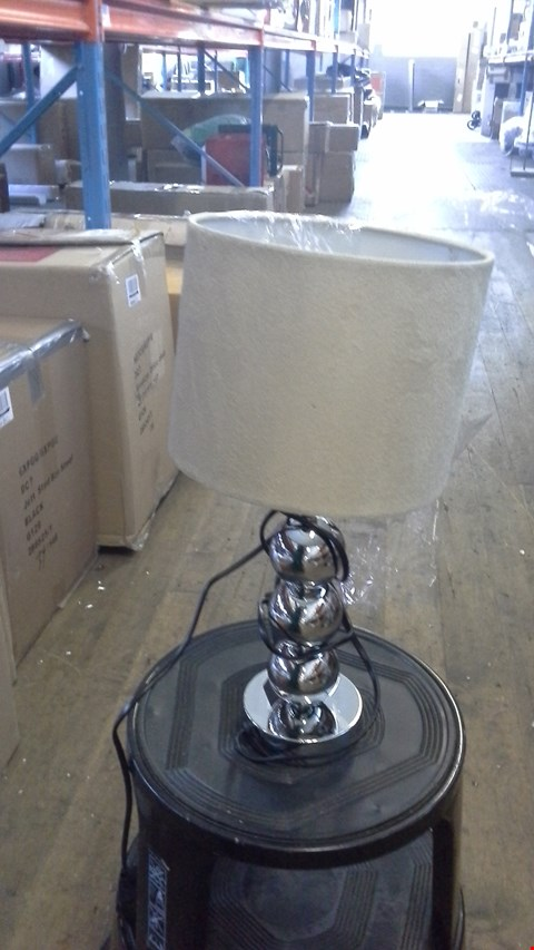 Lot 2522 INGRID TABLE LAMP CREAM  RRP £32.00