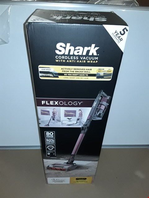 Lot 8110 BOXED SHARK CORDLESS VACUUM CLEANER WITH ANTI HAIR WRAP
