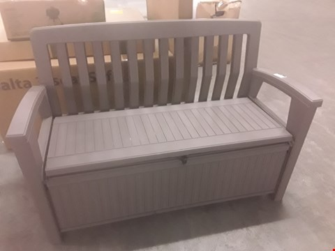 Lot 27 KETER GARDEN STORAGE BENCH