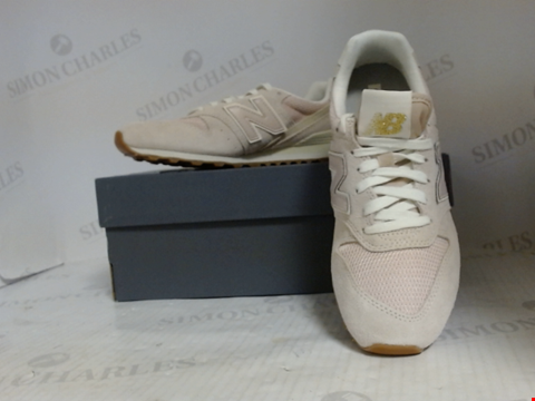 Lot 16036 BOXED PAIR OF DESIGNER NEW BALANCE TRAINERS - UK SIZE 6