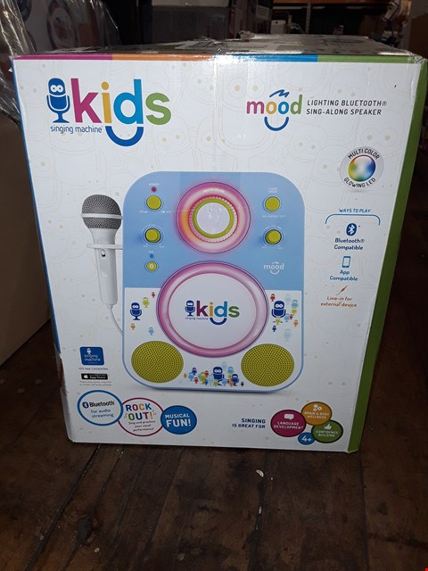 Lot 1267 SINGING MACHINE KARAOKE SYSTEM BLUETOOTH COMPATIBLE, APP COMPATIBLE, LINE IN FOR EXTERNAL DEVICE  RRP £63