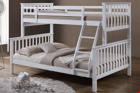 Lot 672 BOXED OSCAR WHITE TRIPLE SLEEPER BUNK BED - ( 2 OUT OF 4 BOXES ONLY )