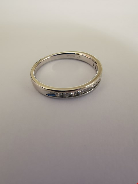 Lot 230 18CT WHITE GOLD HALF ETERNITY RING SET WITH DIAMONDS WEIGHING +/-0.30CT