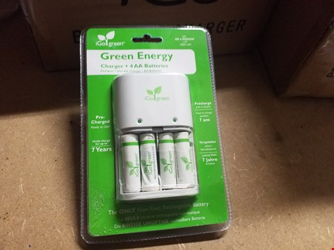 Lot 946 BOX OF APPROXIMATELY 6 IGO GREEN ENERGY CHARGER + 4 AAA BATTERIES