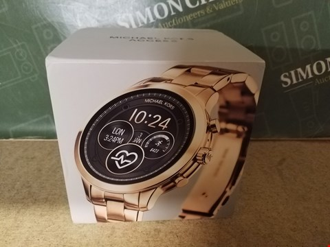 Lot 3 BOXED MICHAEL KORS RUNWAY DISPLAY ROSE GOLD TONE WRIST WATCH RRP £449.00