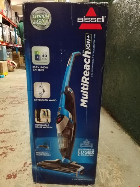 Lot 288 BISSELL MULTI REACH 2 IN 1 LIGHTWEIGHT CORDLESS VACUUM