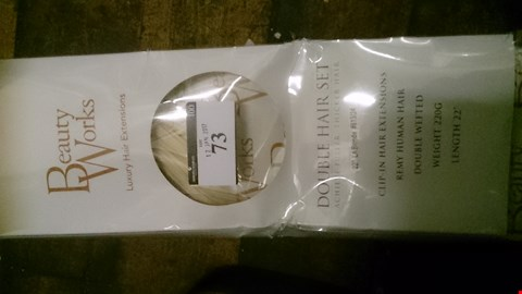 """Lot 73 BOXED BODY WORKS DOUBLE HAIR SET 2"""" LA BLONDE REMY HUMAN HAIR CLIP IN HAIR EXTENSIONS"""