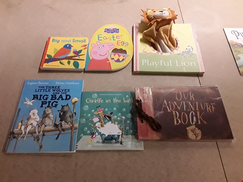 Lot 486 LOT OF APPROXIMATELY 12 ASSORTED CHILDREN'S BOOKS TO INCLUDE BIG AND SMALL BY BRITTA TECKENTRUP, THE GRUFFALO BY JULIA DONALDSON+AXEL SCHEFFLER, THE GREEN SHIP BY QUENTIN BLAKE ETC