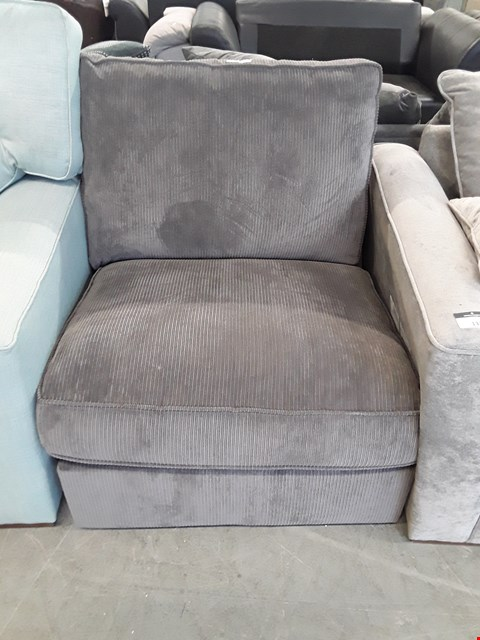 Lot 132 DESIGNER GREY CORD SOFA SECTION