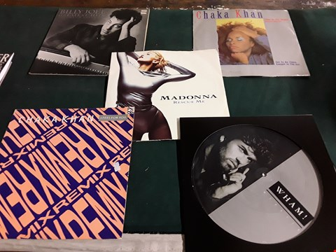 Lot 43 LOT OF 10 ASSORTED VINYL RECORDS TO INCLUDE; WHAM, MADONNA, CHAKA KHAN ETC