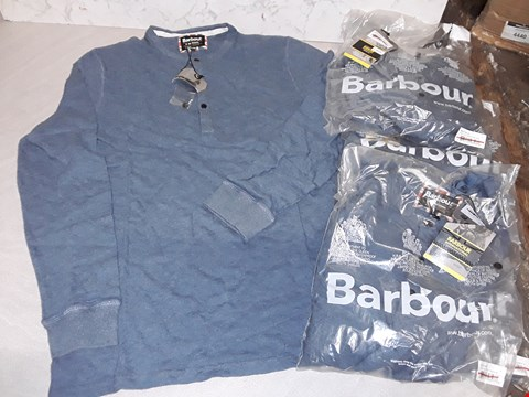 Lot 4008 LOT OF 5 BARBOUR LIGHT BLUE LONG SLEEVED TOPS