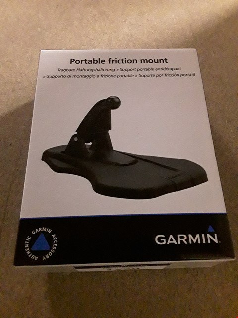 Lot 943 BOXED GARMIN PORTABLE FRICTION MOUNT