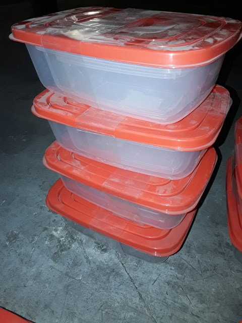 Lot 53 FOUR SETS OF THREE NESTABLE FOOD CONTAINERS WITH LIDS 0.5L, 1 L & 1.8L