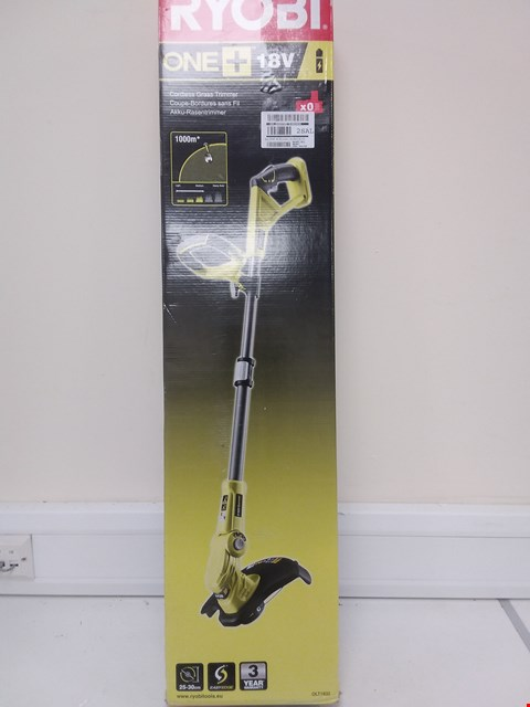 Lot 9073 RYOBI 18V ONE+ OLT1832 GRASS TRIMMER, 25-30CM PATH (ZERO TOOL) RRP £61.99