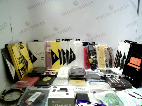 Lot 7240 LOT OF APPROXIMATELY 55 ASSORTED ITEMS TO INCLUDE PHONE CASES, SCREEN PROTECTORS ETC