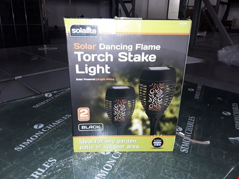 Lot 1472 SOLALITE SOLAR DANCING FLAME TORCH STAKE LIGHT 2 PACK