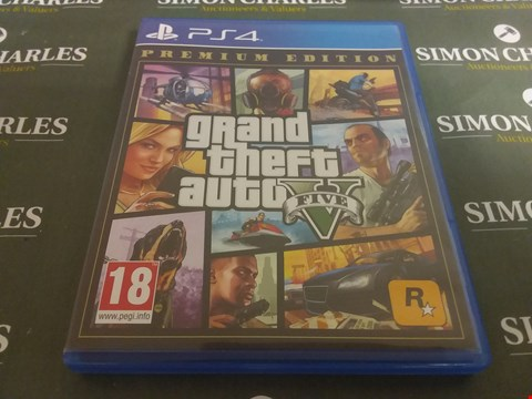 Lot 1052 GRAND THEFT AUTO V PLAYSTATION 4 GAME