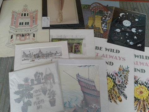 Lot 19 10 ASSORTED ARTWORKS, INCLUDING MOUNTED PRINTS