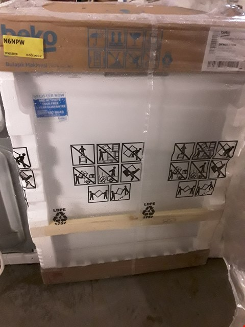 Lot 10015 BEKO DISHWASHER WHITE DFN05310W