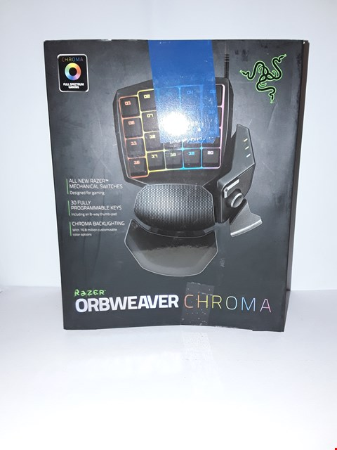 Lot 4036 RAZER ORBWEAVER CHROMA GAMING KEYPAD
