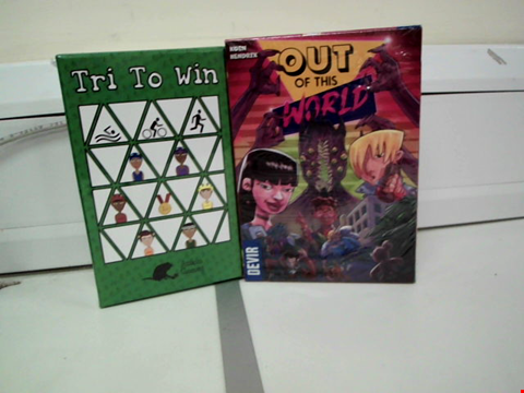 Lot 8008 TRI TO WIN AND OUT OF THIS WORLD CARD GAMES