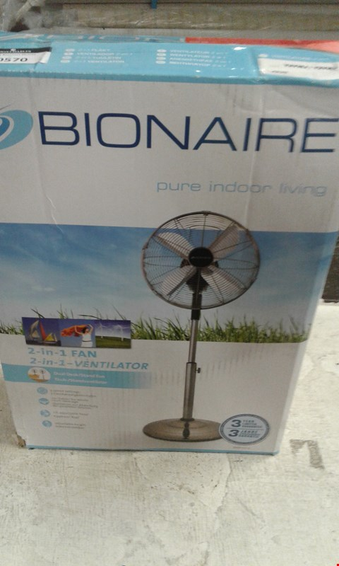 Lot 10570 BRAND NEW BOXED BIONAIRE BASF1516 DESK AND STAND FAN RRP £99.99